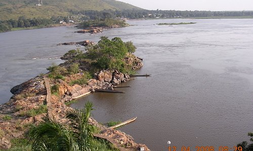 From the Oubangui Hotel - the Oubangui river, which gave its name to the capital city of CAR