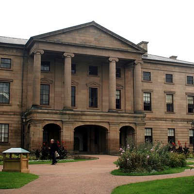 Province House Exterior with Flowers
