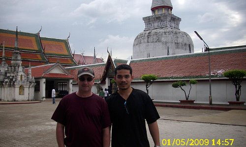 Me and a friend at the temple again