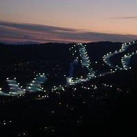 Ski Slopes at Night
