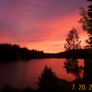 Evening fall sunset
