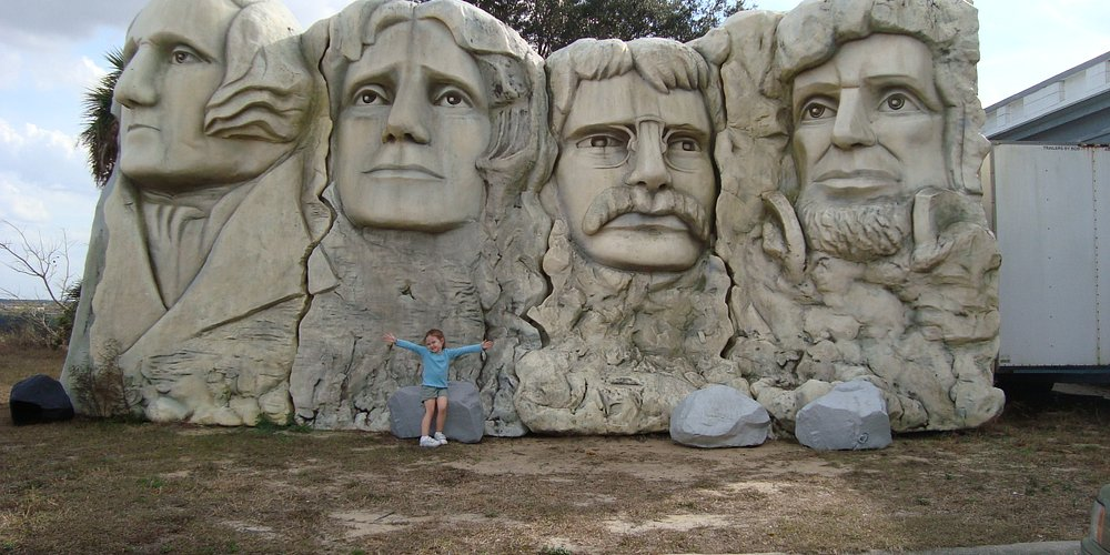 Mount Rushmore...a bit smaller then lifesize...but still a great replica