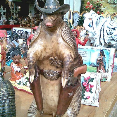 Typical souvenir - the armadillo is the state animal of Texas