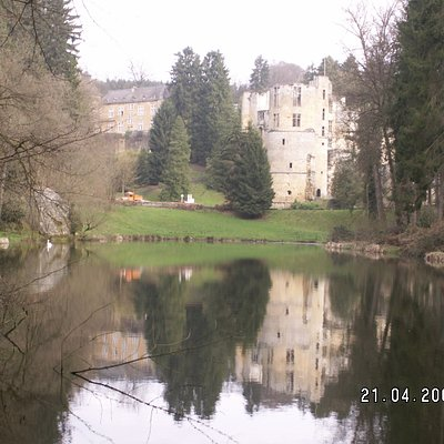 """Beaufort Castle and """"swan lake"""""""