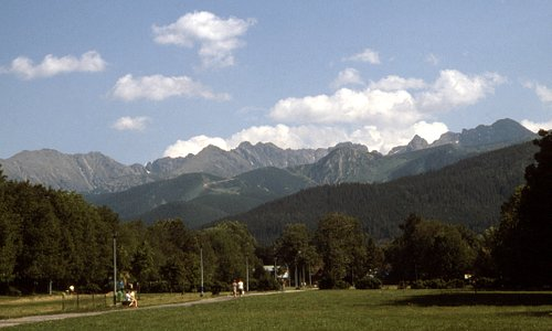 The Tatra mountains near Zakopane