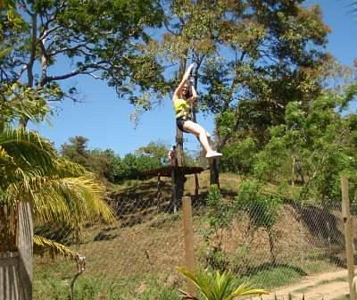 Ziplining in Roatan