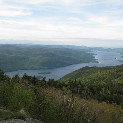 The view of Lake George from the top of Black Mountain