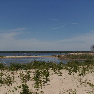 View from one of the sand Islands