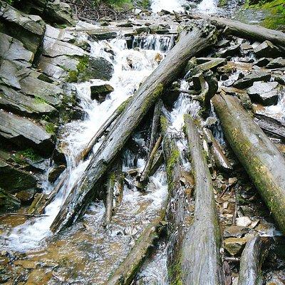 Lower portion of Mingo Falls