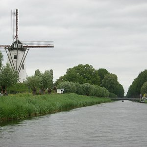 A windmill in Damme