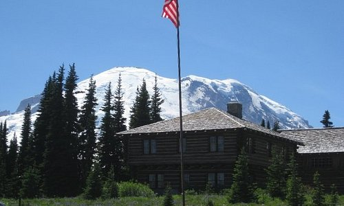 Mt. Rainier Sunrrise visitor center. Only about 2.5 hrs. drive from Seattle, WA.