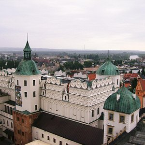 View from tower over castle