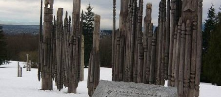 First Nations' totem poles stand as tribute to the legacy of our indigenous peoples.