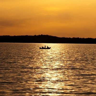 Fishing in the sunset,Tenney Park, Madison, WI