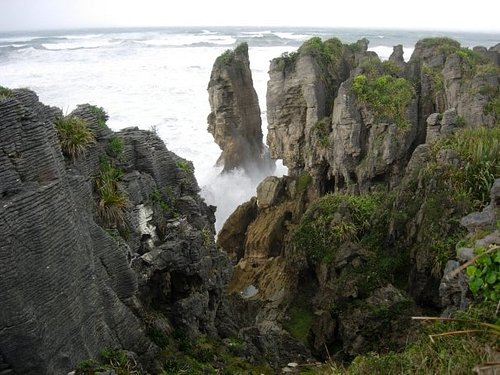 Pancake Rocks on the West Coast