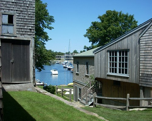 A view of Eel Pond from one of the buildings at Woods Hole Oceanographic.