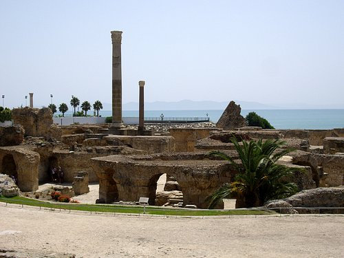 Ancient Roman baths of Tunisia