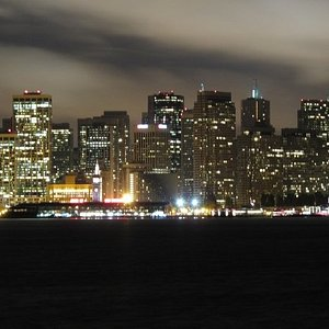 These pictures were taken from Treasure Island at night with my G10 and no tripod, just set it o