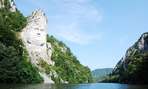 Near Orsova - Decebal - the Dacian king -, the highest statue in Europe and the second  in the w