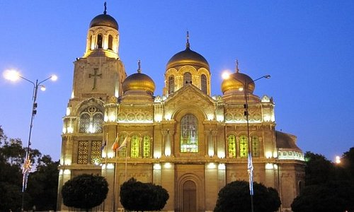 The Cathedral by night, Varna.