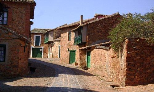 Castrillo de Polvazares vista de las calles, León