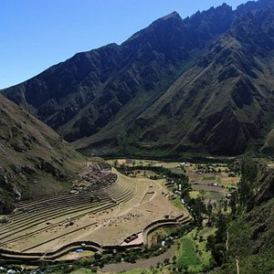 Inca TrailLlactapata ruins