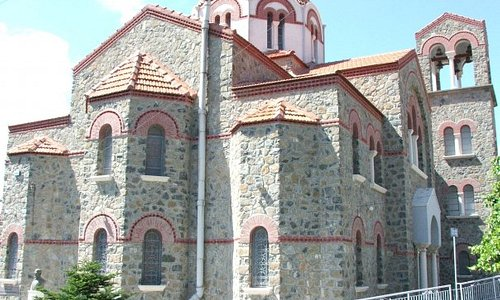 The church at Pano Platres in the Troodos Mountains