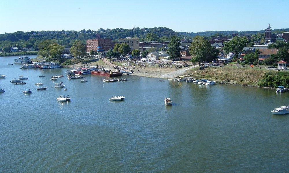 View of the Festival/Marietta from the bridge.