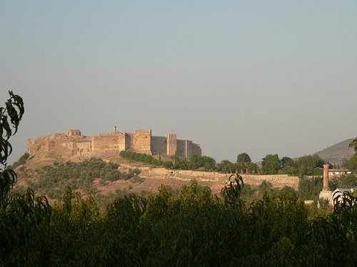 A view of the Seljuk castle on the way back from Ephesus