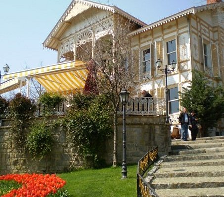 Once an Ottoman mansion, now a cafe.