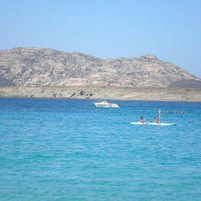 l'Isola dell'Asinara dalla spiaggia della Pelosa