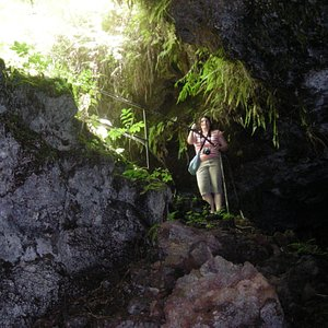 entrance/exit to the lava tube