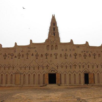 The mosque's façade