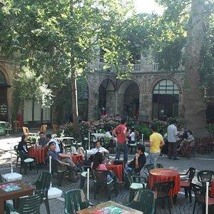 Silk market, coffee time