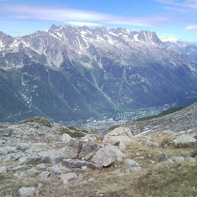 Aiguilles Rouges y valle de Chamonix