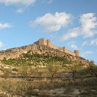 Vistas del castillo de Castalla