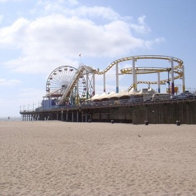 the pier from the beach