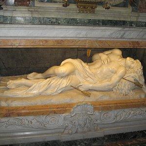 statue of St Sebastian by Georgetti