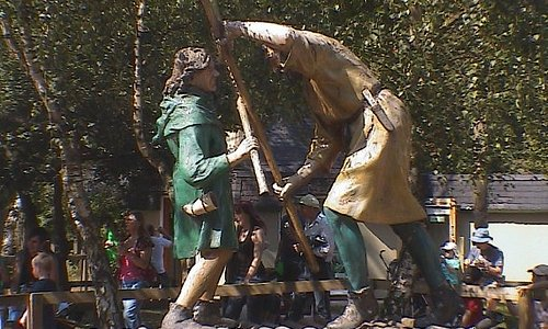 Nottingham, EnglandSherwood ForestRobin Hood 1st meets Big JohnRobin Hood Festival 07