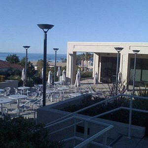 The deck by the business buildings.  We sometimes had department meetings here.