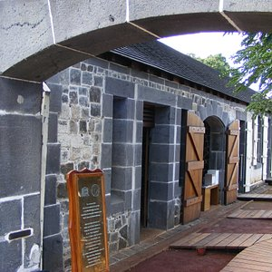 One of the slave processing buildings