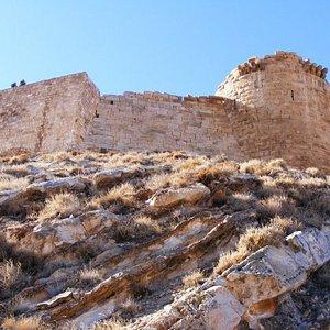 Shobak Castle one of the few remaining Crusader forts still surviving in Jordan (Shobak - Jordan