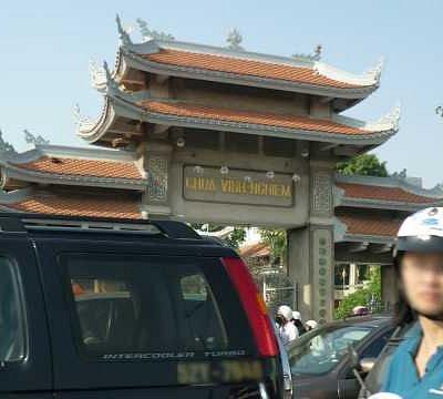 ヴィンギエム寺(車窓)