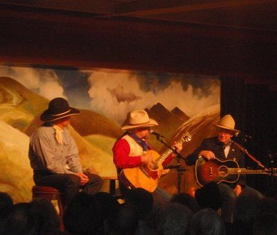 Waddie Mitchell, Michael Martin Murphy (Wildfire) and Don Edwards.  Great Show!