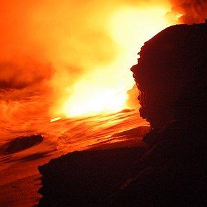 Photo from our Moonlight Lava Walk with Native Hawaiian Lava