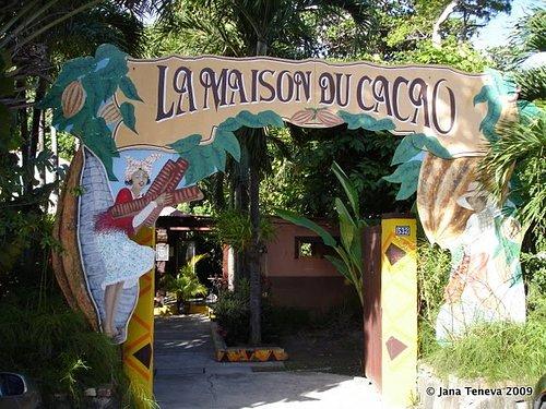 Entrance of Maison du cacao