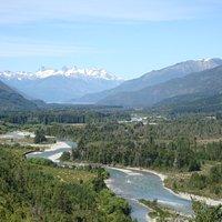 vista desde la ruta del cauce del Rio Azul