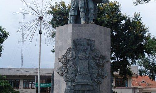 The Montagnard statue in Kontum