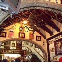 Restaurant La Guadalupana..garlic soup, yum!
