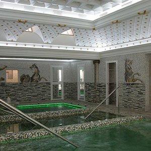 General view of pools
